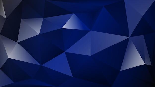 진한 파란색 색상의 많은 삼각형의 추상 다각형 배경