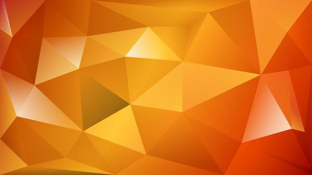 오렌지 색상의 많은 삼각형의 추상 다각형 배경