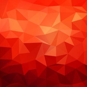 抽象的な多角形の背景。赤い背景