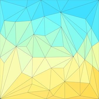 추상 다각형 배경입니다. 디자인 카드, 초대장, 포스터, 티셔츠, 실크 목도리, 직물, 직물, 의복 등에 인쇄하기 위한 벡터 삼각형 낮은 폴리 패턴