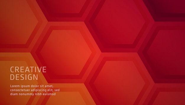 Abstract polygonal background warm color