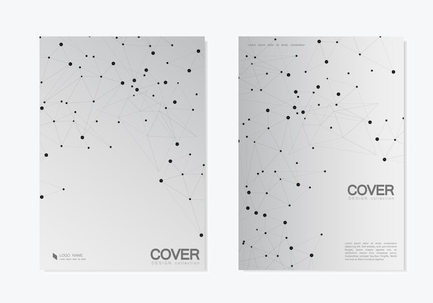 Abstract polygonal background with connected lines and dots. modern  templates cover design