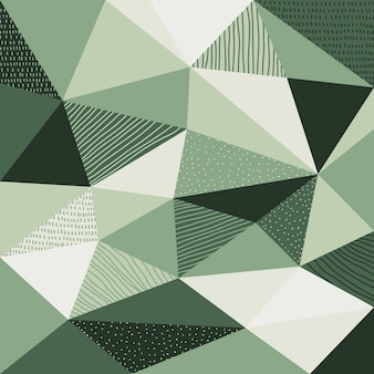 Abstract polygonal background with green color