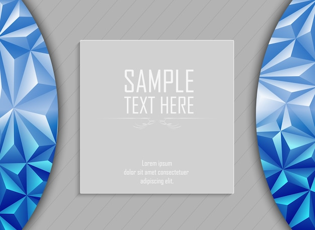 Abstract polygonal background with space for text