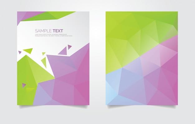 Abstract polygonal brochure template