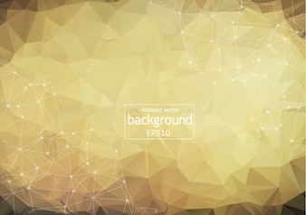 Abstract polygonal brown background