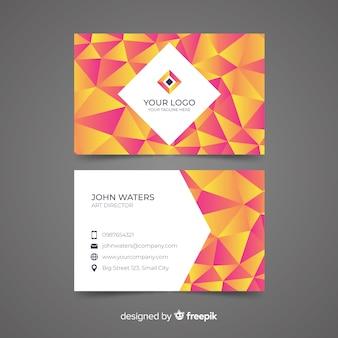 Абстрактный многоугольной шаблон визитной карточки