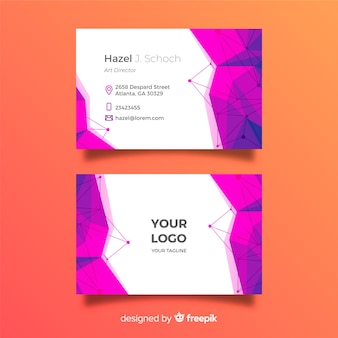 Abstract polygonal business card