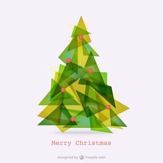 Abstract polygonal christmas tree