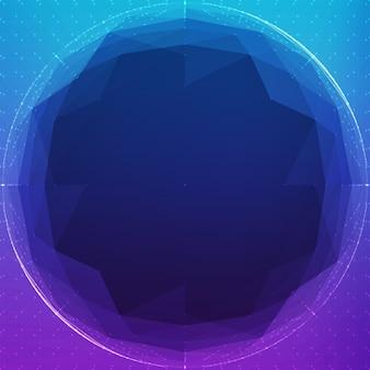 Sfera cyber poligonale astratta