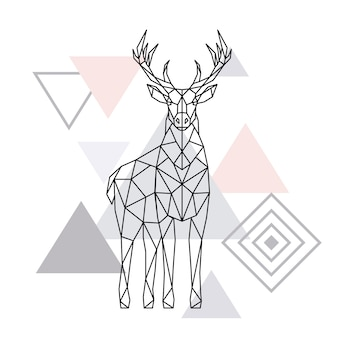 Abstract polygonal deer.