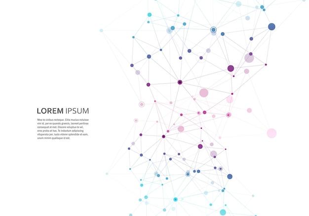 Абстрактная полигональная геометрическая форма с шаблоном структуры структуры молекулы