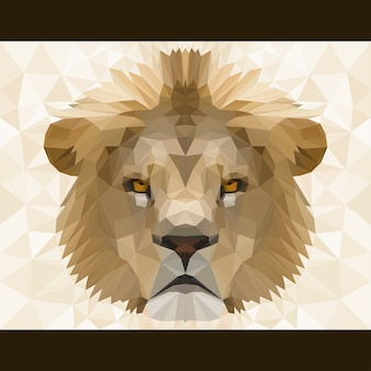 Abstract polygonal lion head