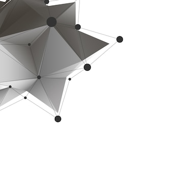 Abstract polygonal low poly background with connecting dots and lines.