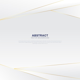Abstract polygonal luxury gold and white background