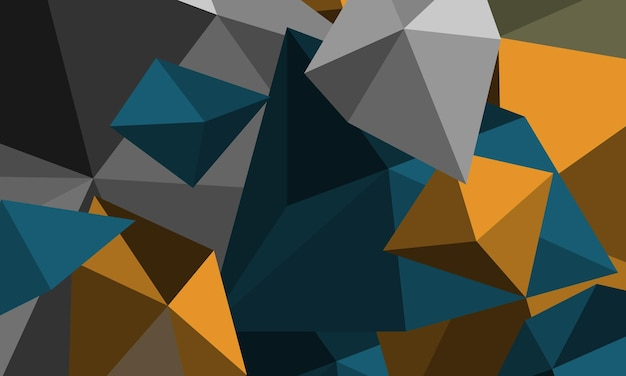 さまざまなサイズと色の抽象的な多角形のモザイクの背景