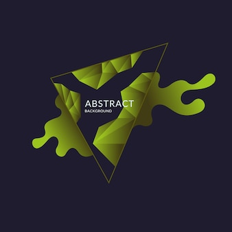 Abstract polygonal object and splashes in the background. low poly design. vector illustration