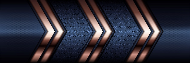 Abstract polygonal pattern luxury dark blue with gold.
