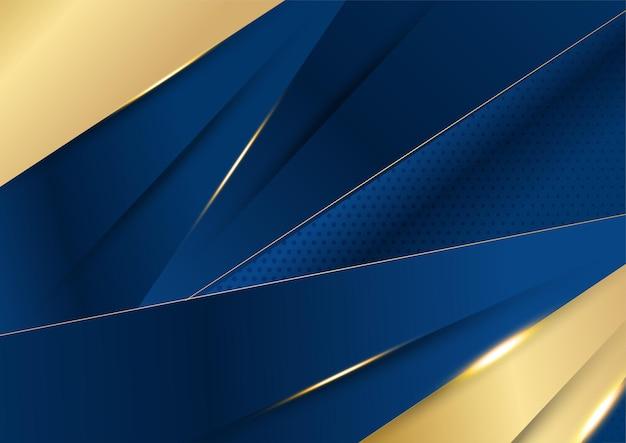 골드와 추상 다각형 패턴 럭셔리 다크 블루