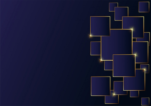 Абстрактная полигональная картина роскошная золотая линия