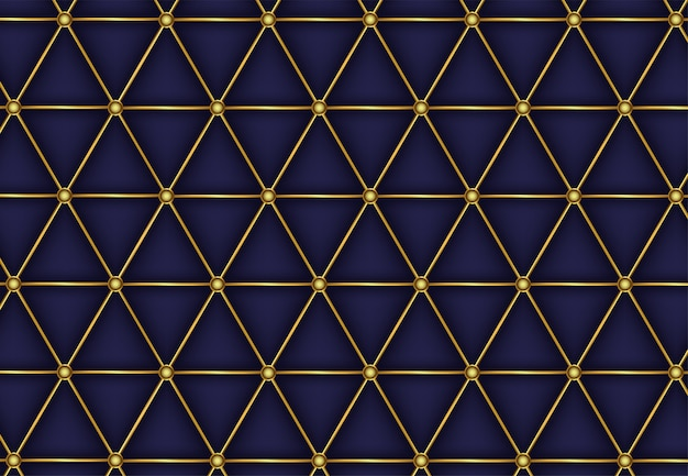 Abstract polygonal pattern luxury golden line