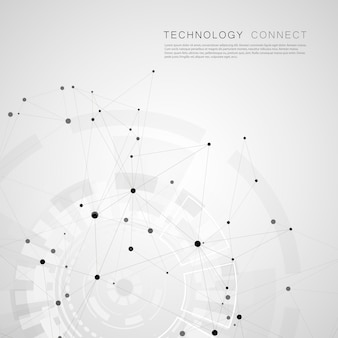 Абстрактный многоугольной социальной сети и креативный фон