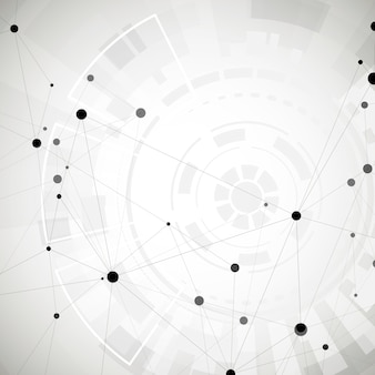 Abstract polygonal social network background