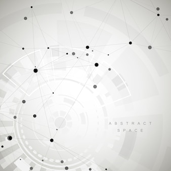 Abstract polygonal social network and creative background