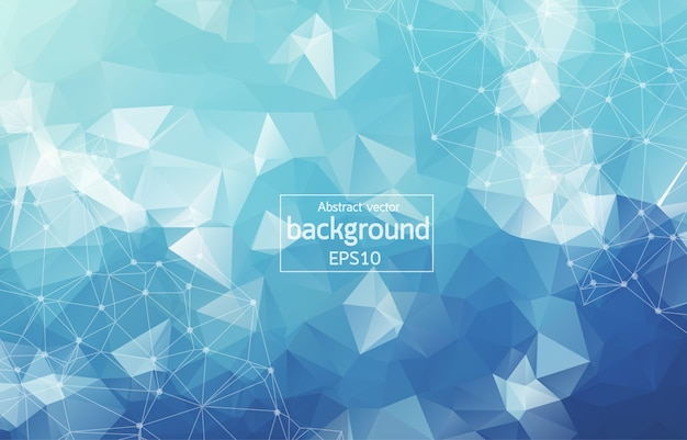 Abstract polygonal space background