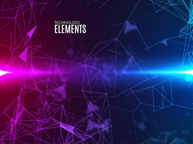 Abstract polygonal techno background