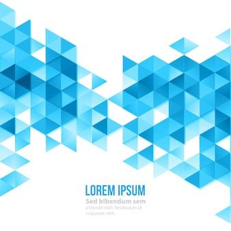 Абстрактный полигональных треугольников плакат.