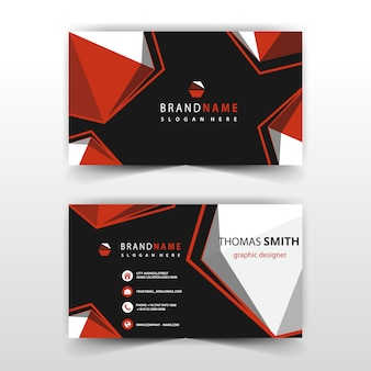 Abstract polygonal visit card