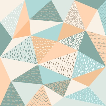 Abstract polygonal with motif background