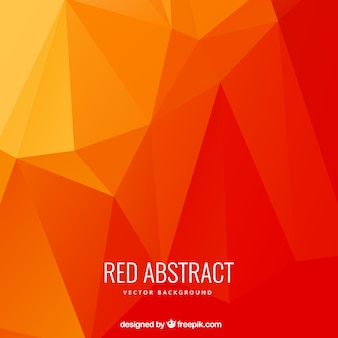 Abstract polygons background in red tones