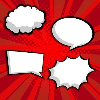 Abstract pop art, comic book blank speech bubble vector illustration background