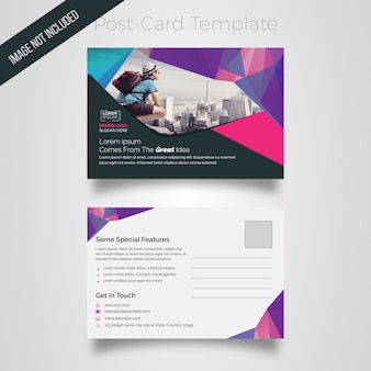 Abstract postcard layout