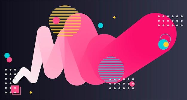 抽象的なポスターバナー抽象的な背景テクスチャコラージュfluidposter