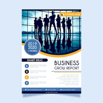 Abstract poster for business with photo