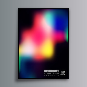 Abstract poster design with colorful gradient for wallpaper, flyer, poster, brochure cover, typography