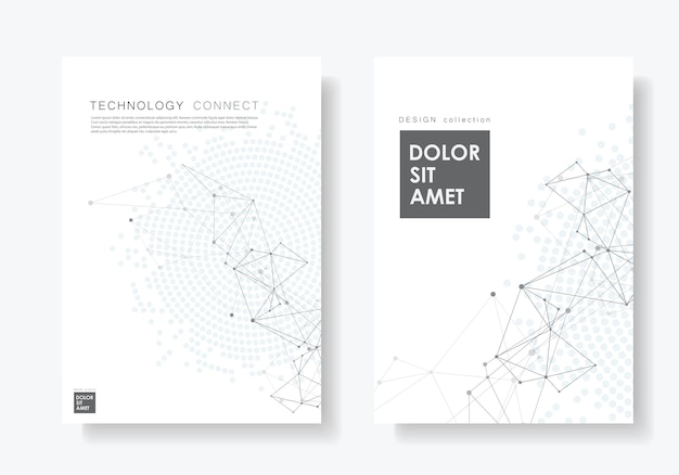 Abstract poster with connected lines and dots