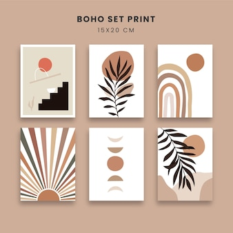 Abstract posters art set