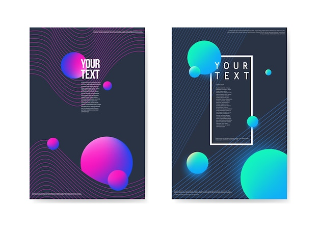 Abstract posters dark space background