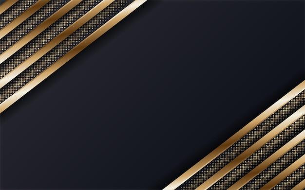 추상 프리미엄 검은색과 금색 기하학적 배경