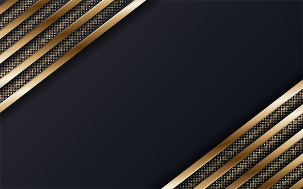 Abstract premium black and gold geometric background