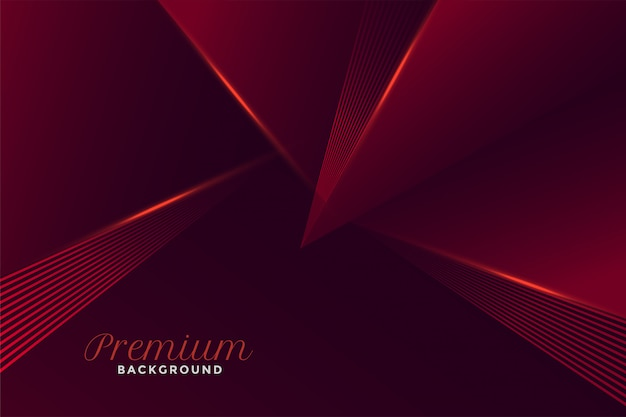 Abstract premium geometric red style
