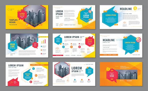 Abstract presentation templates, infographic template design, speech bubbles vector