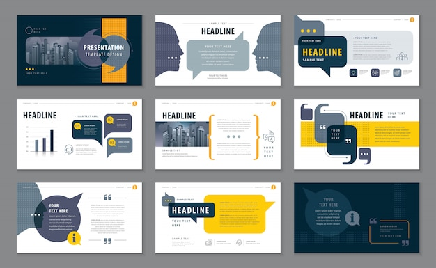 Abstract presentation templates