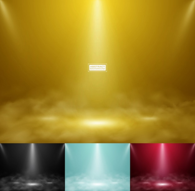 Abstract product show colorful background set