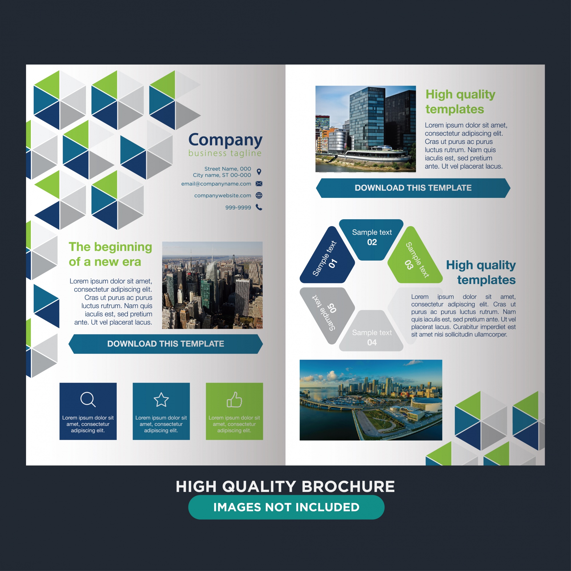 Abstract professional brochure for business