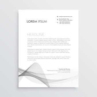 추상 전문 편지지 디자인 서식 파일